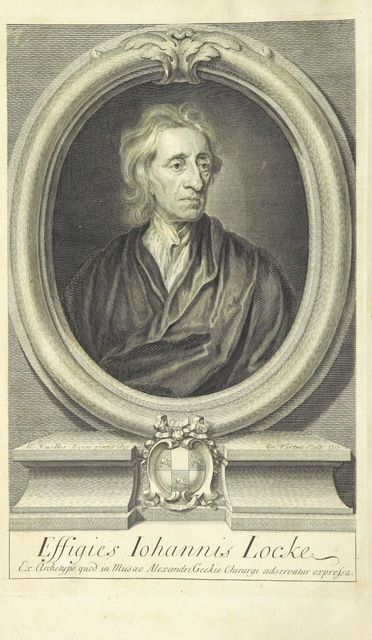 """portrait from """"[The Works of John Locke, etc. (The Remains of John Locke ... Published from his original manuscripts.-An account of the life and writings of John Locke [by J. Le Clerc]. The third edition, etc.) [With a portrait.]]"""""""