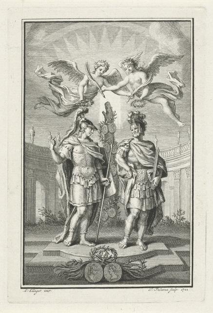 Romeinse veldheren door engelen gelauwerd