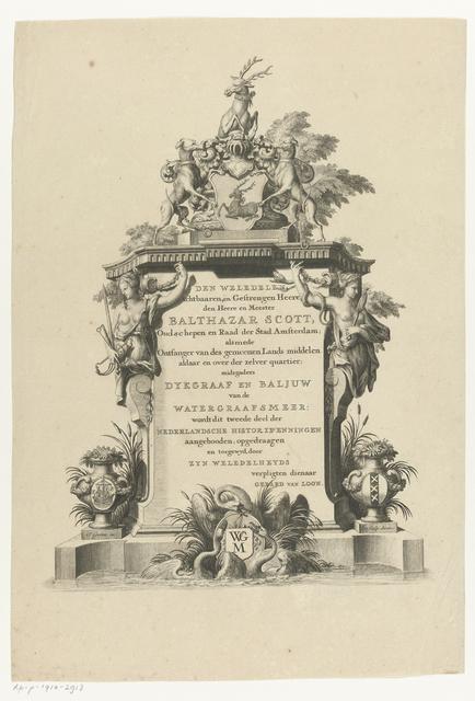 Monument met opdracht aan Balthazar Scott
