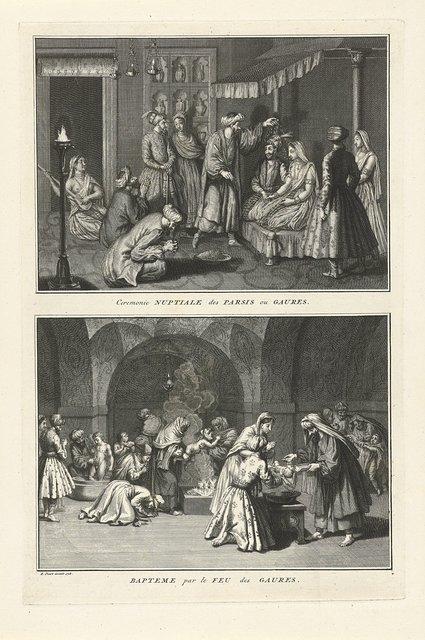 Perzische huwelijksplechtigheid en doopceremonie