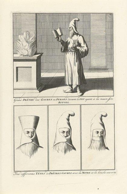 Voorstellingen van Perzische priester