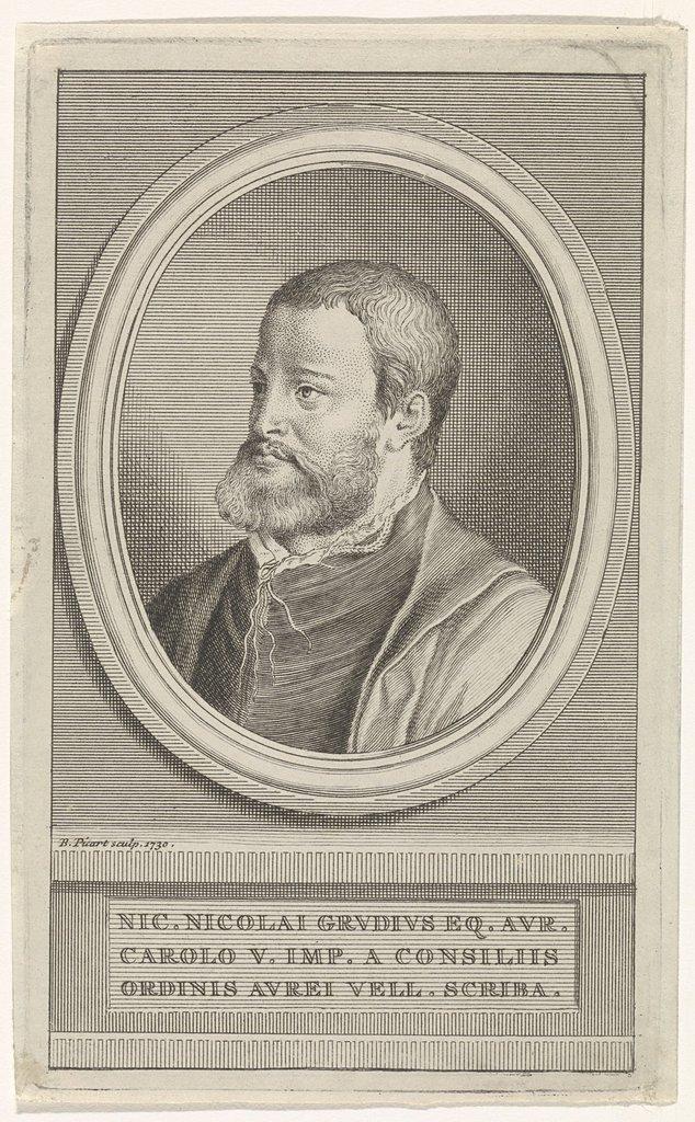 Portret van de dichter Nicolaas Grudius