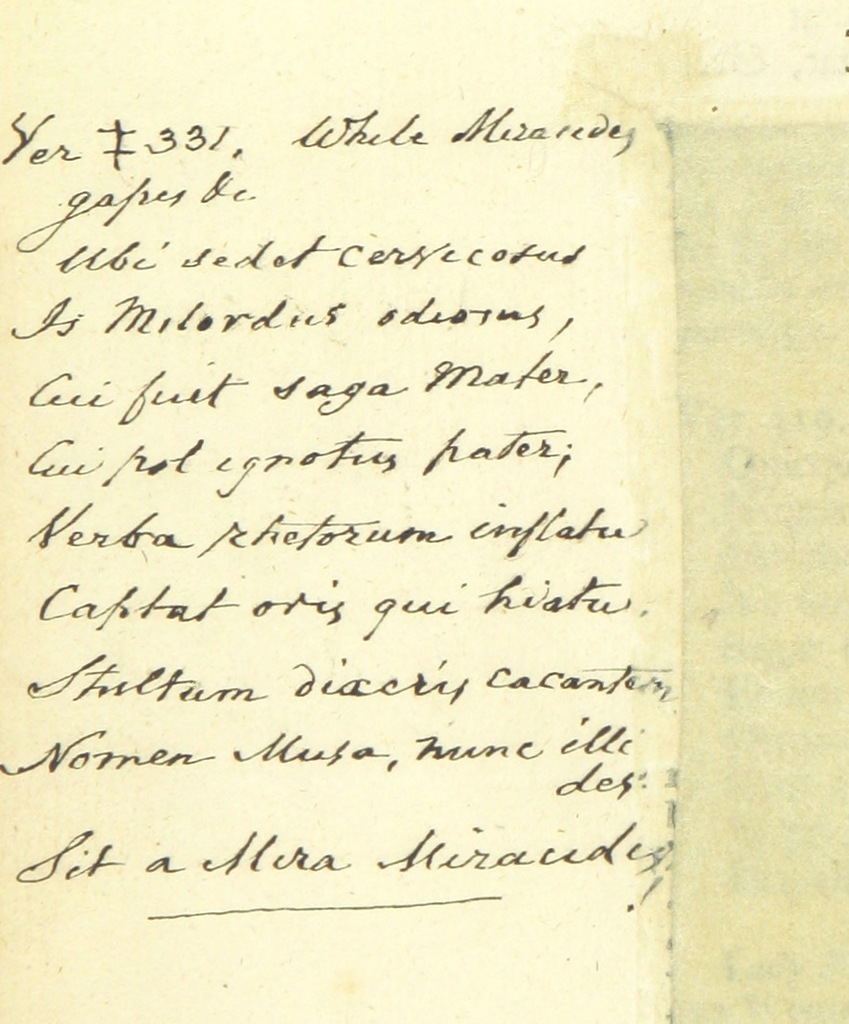 Manuscript From The Toast An Heroick Poem In Four Books Written Originally In Latin By Frederick