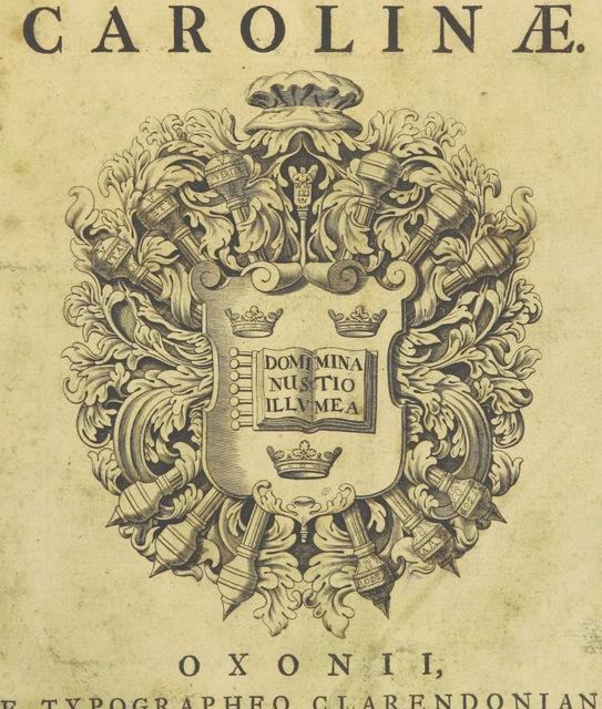 """cover from """"Pietas Academiæ Oxoniensis in obitum ... Reginæ Carolinæ"""""""