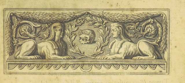 "decoration from ""Pietas Academiæ Oxoniensis in obitum ... Reginæ Carolinæ"""