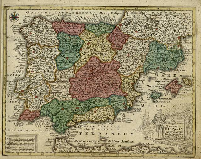 Novissima et accuratissima regnorum Hispaniae et Portugalliae tabella geographica