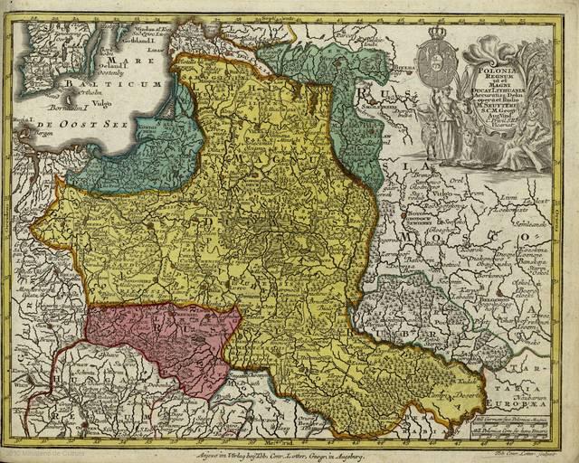 Poloniae regnum ut et magni ducat. Lithuaniae accuratiss. delin. : [tabula]