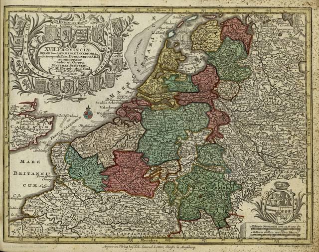 XVII provinciae belgii sive Germaniae inferioris prisc. temporibg circ. burgundico S.R.I. annumeratae studio et opera : [tabula]