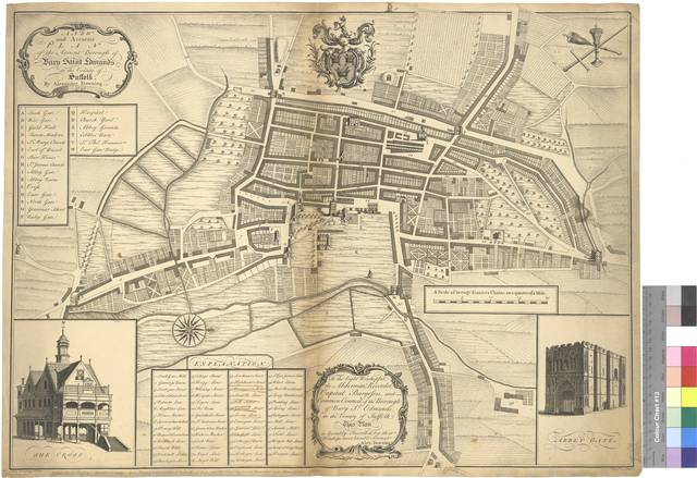 A New and Accurate Plan of the Ancient Borough of Bury Saint Edmunds in the County of Suffolk [Mapa]