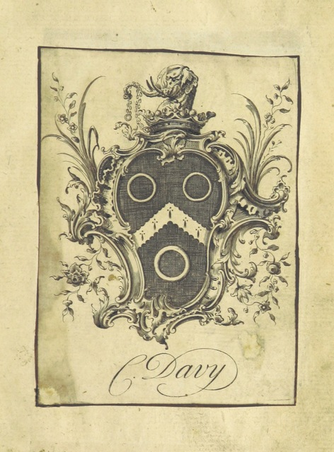 """bookplate from """"Dean Swift's Literary Correspondence, for twenty-four years; from 1714 to 1738. Consisting of original letters to and from Mr. Pope, Dr. Swift, Mr. Gay, Lord Bolingbroke, Dr. Arbuthnot, etc. [Edited by Edmund Curll.]"""""""