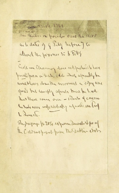 """handwriting from """"Dean Swift's Literary Correspondence, for twenty-four years; from 1714 to 1738. Consisting of original letters to and from Mr. Pope, Dr. Swift, Mr. Gay, Lord Bolingbroke, Dr. Arbuthnot, etc. [Edited by Edmund Curll.]"""""""
