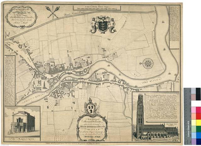 A Plan of the Borough & Port of Boston, In the County of Lincoln [Mapa]