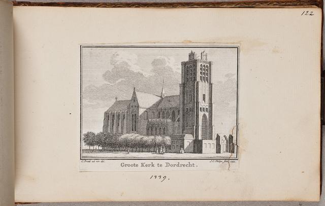 Grote Kerk in Dordrecht / door J[an] C[asper] Philips (ca. 1690-1775) naar C[ornelis] Pronk (1691-1759)