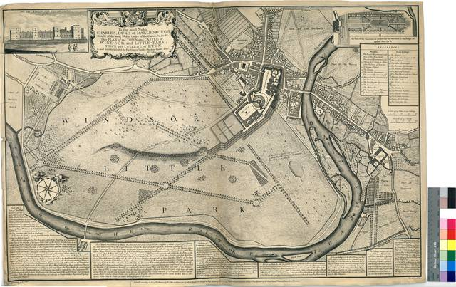 Plan of the Town and Castle of Windsor and Little-Park and College of Eton [Mapa]
