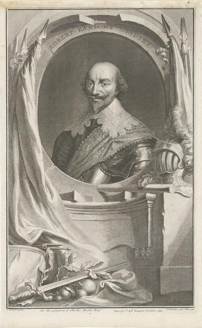 Portret van Robert Bertie, 1e graaf van Lindsey
