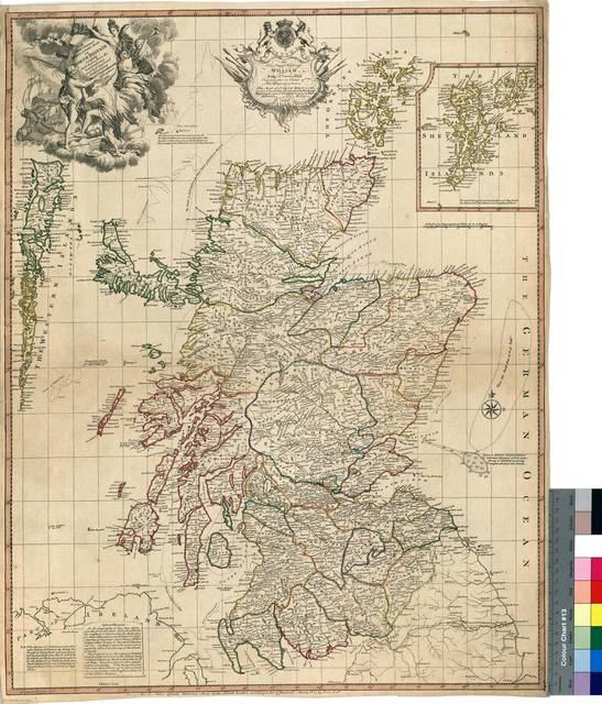 A New & Correct Mercator's Map of North Britain : carefully laid approved Observations [Mapa]
