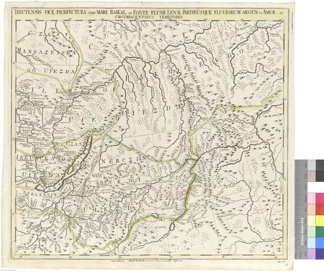 Irkulensis vice praefectura cum Mari Baikal et Fonte fluvii Lenae, partibusque fluviorum Argun et Amur ac circumiacentibus territoriis [Mapa]