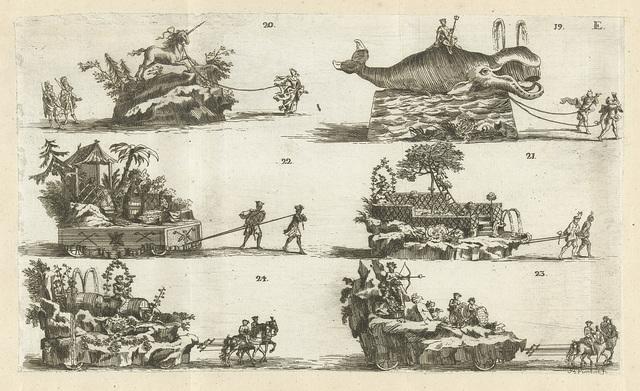 Zes vertoningen, genummerd 19-24, 1749