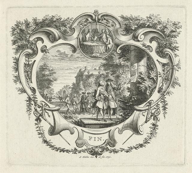 Vignet met historische gebeurtenissen rondom Frederik III