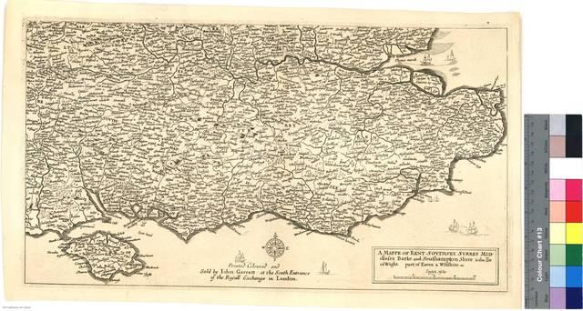 A Mappe of Kent, Southsex, Surrey, Middlesex, Barke and Southamptonshire & the Ile of Wight, part of Essex & Wiltshire, etc : [Carte de l'Angleterre et d'une Partie d'Ecosse Gravée par le Celebre Hollar. Cette Carte eté Réduite d'après les Provinces de Mr. Saxon... Toutes celles qui ont eté publiées depuis nén sont que des copies elle est connue sous le nom de Quarter Master's Map ou Carte Quartiers Maitres] [Mapa]