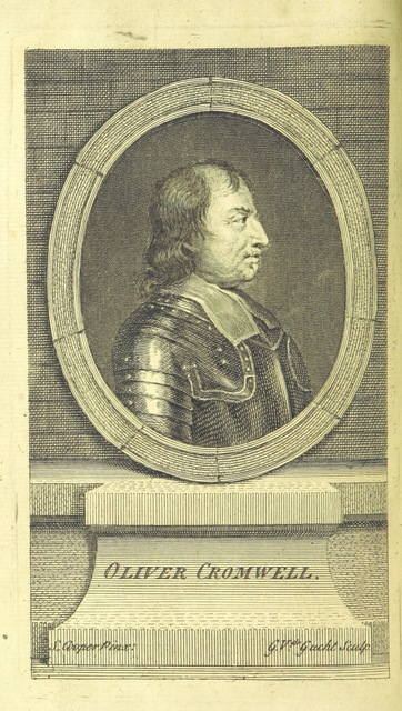 """Portrait from """"Oliver Cromwell: an historical play [in five acts and in prose and verse]. To which is prefix'd an Extract or Journal of the rise and progress of Oliver Cromwell"""""""