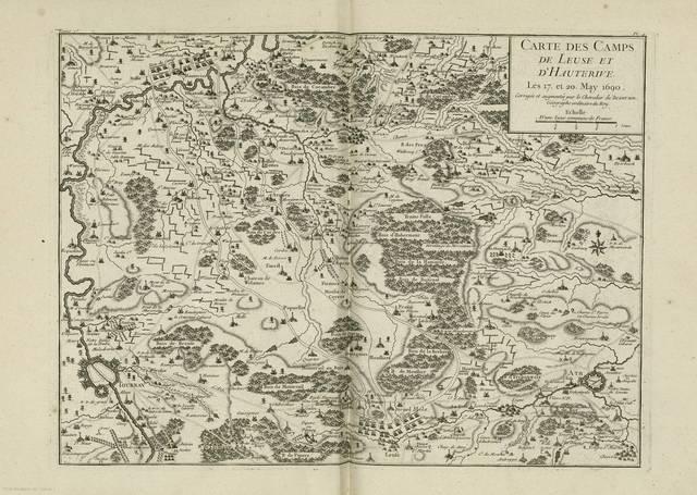 Carte des camps de Leuse et d'Hauterive : Les 17, et 20. May 1690< [carte de campagne]