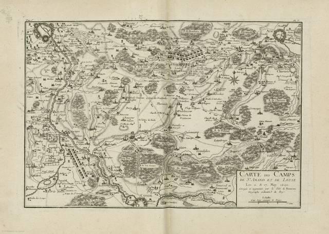 Carte des camps de St. Amand et de Leuse : Les 2. & 17 May 1690< [carte de campagne]