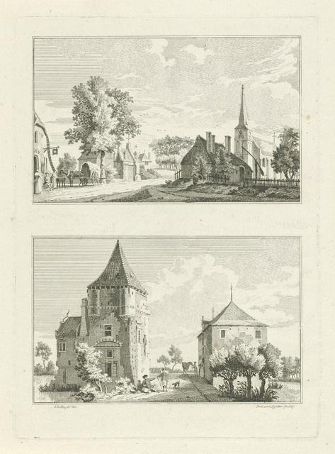 Dorpsgezicht te Till en het Tiller Huis, 1746