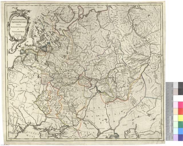 Tabula Geographica Imperi Russici exhibens stationes cursuum et veredariorum publicorum [Mapa]
