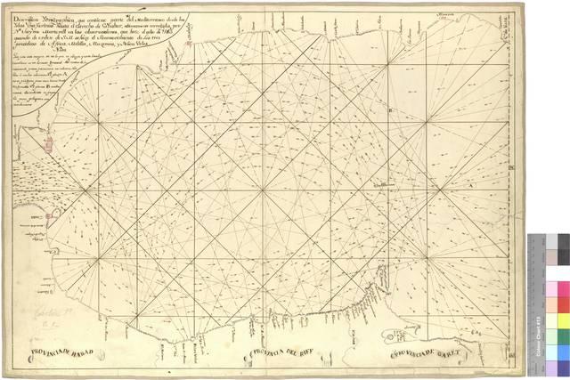 Descripcion Ydrographica, que contiene parte del Mediterraneo desde las Yslas chafarinas hasta el Estrecho de Gibraltar [Mapa]