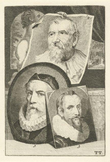 Portretten van Otto van Veen, Adam van Noort en Marcus Gheeraerts I