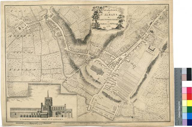 A Plan of the Town, of St. Albans, in Hartfordshire [Mapa]