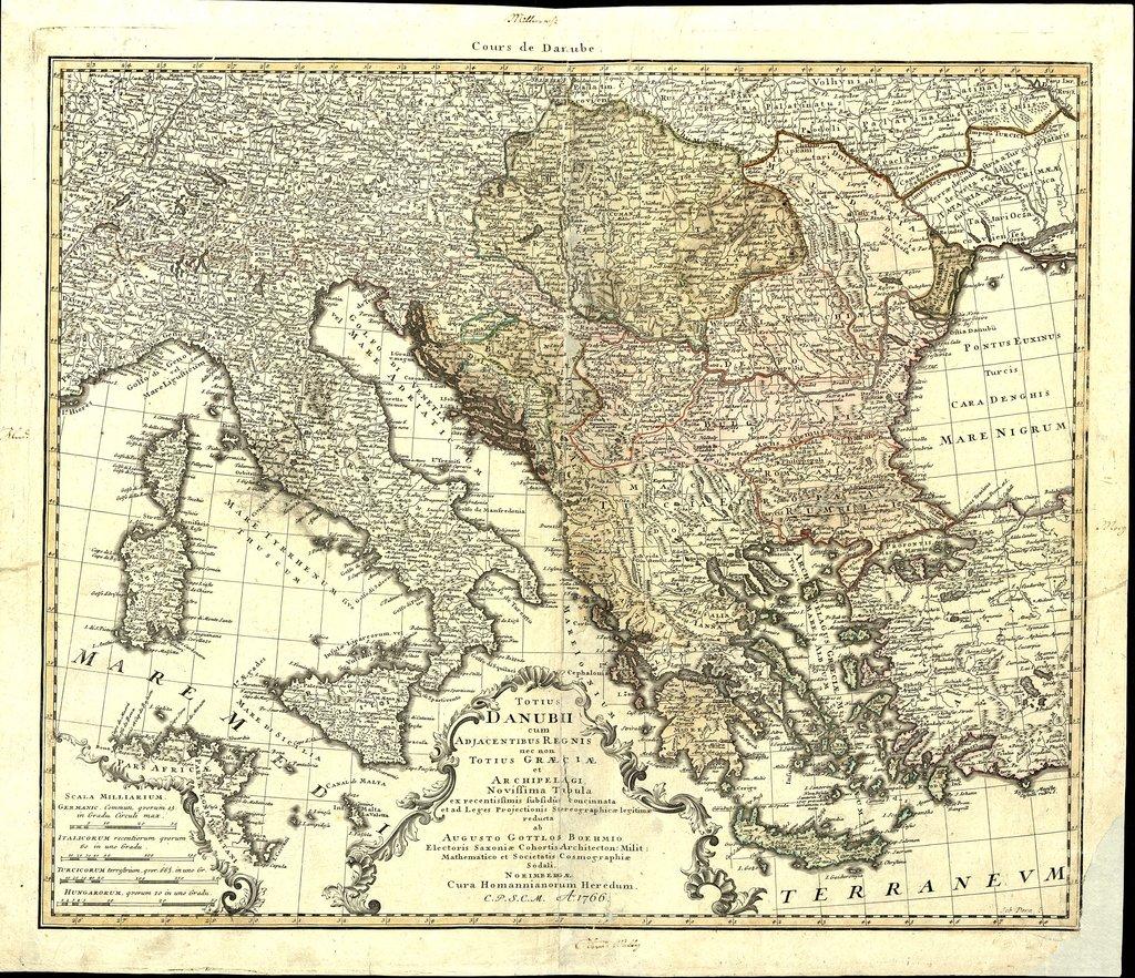 Totius Danubii cum Adjacentibus Regnis nec non totius Graeciae et Archipelagi : Novissima tabula