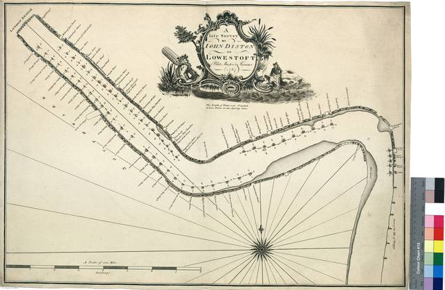 A late survey by John Diston of Lowestost Pilot Master & Mariner of Thames river [Mapa]