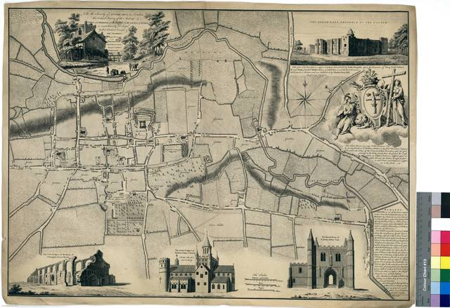 Plan of the Antient Town and Borough of Colchester in the County of Essex [Mapa]