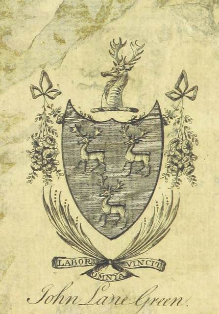 "coat of arms from ""Original Poems and Imitations"""