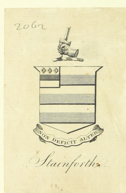"coat of arms from ""Original Poems, translations and imitations from the French, etc. By a Lady"""
