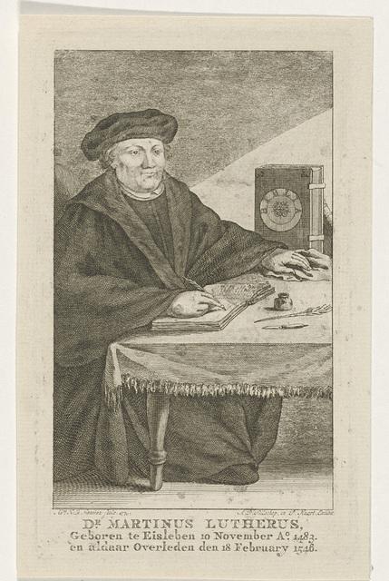 Portret van Martin Luther