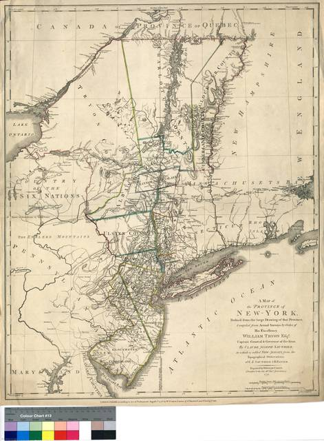 A map of the Province of New York : Reduced from the large Drawing of that Province ; Compiled from Actual Surveys...