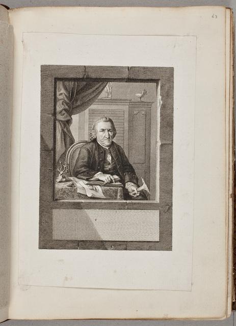 Portret: Joan Coenraad Brandt(1703-1791), zie fol.62r / door [Reinier Vinkeles] (1741-1816) naar voorbeeld van G.N. Ritter
