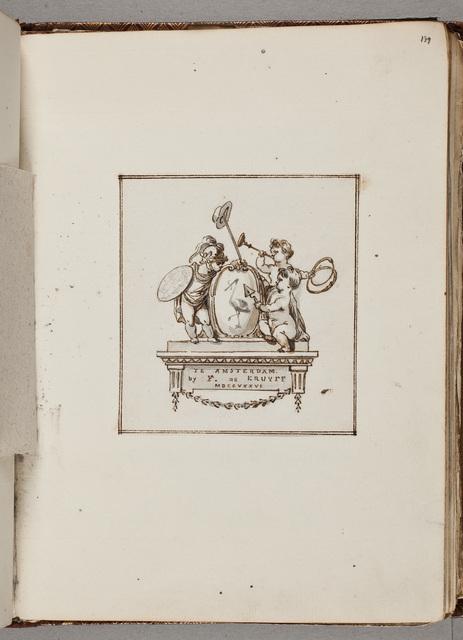 """Titelvignet voor """"Het verneedert en verheerlykt 's Graavenhaage"""" / door Reinier Vinkeles (1741-1816)"""