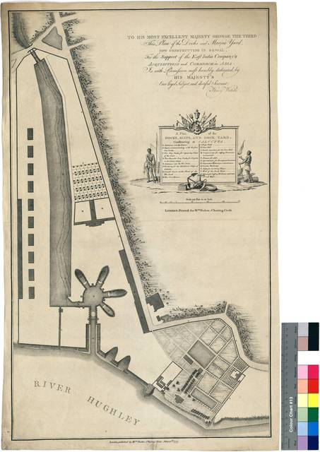 A Plan of the Docks, Slips, and Dock-yard, Constructing at Calcutta