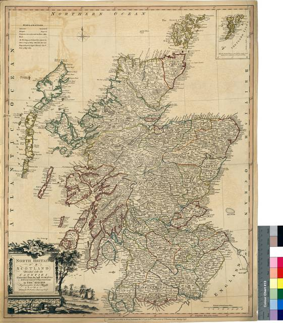 North Britain or Scotland Divided into its Counties : Corrected from the best Surveys & Astronomical Observations [Mapa]