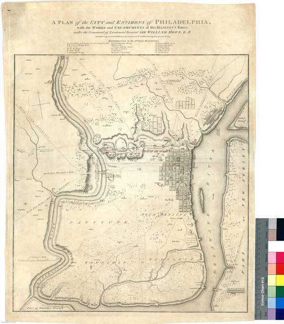 A Plan of the City and Environs of Philapelphia : with the Works and Encampuents of His Majesty's Forces, under the Command of Lieutenant General Sir William Howe K.B