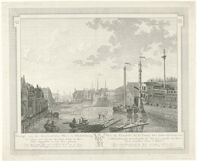 Gezicht op de Oost-Indische Werf te Middelburg, 1778