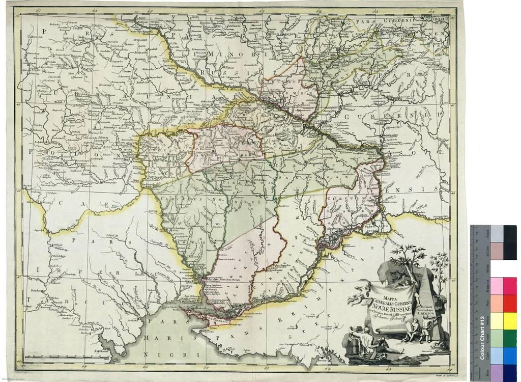 Mappa Generalis Gubernii Novae Russiae in Circulos Divisi 1779 : Kinburn slavenkaja Cherson [Mapa]