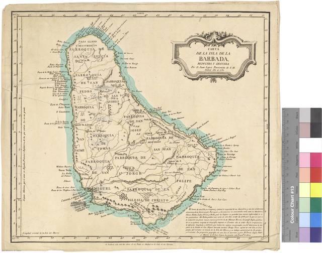 Carta de la isla de la Barbada