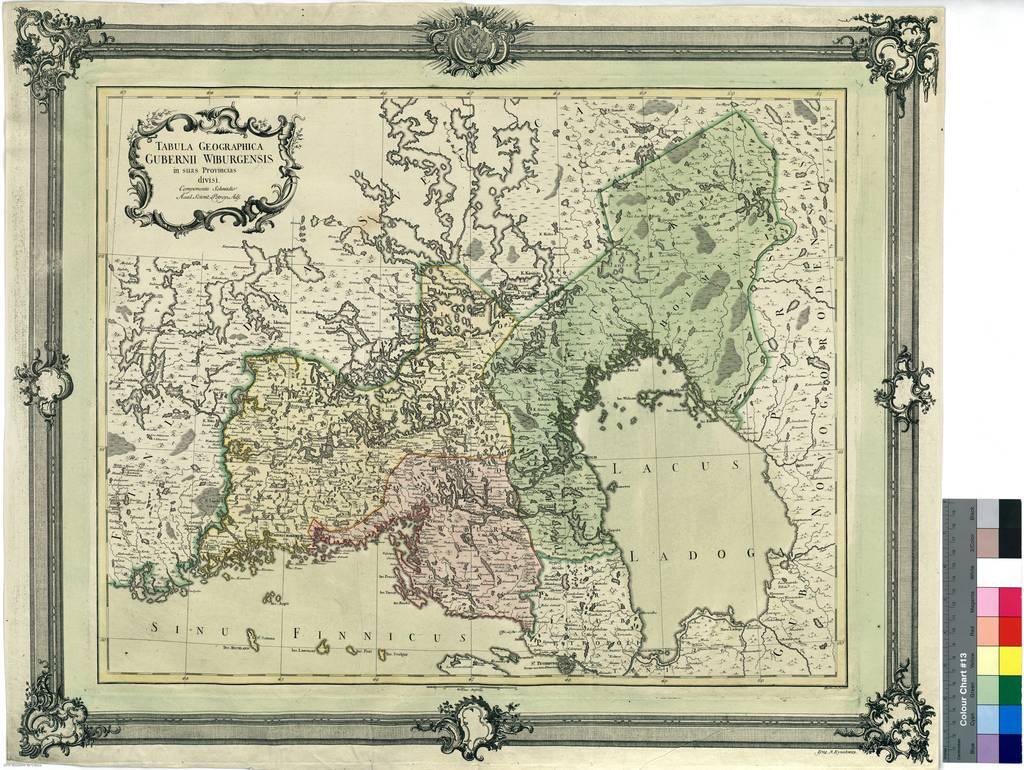 Tabula Geográfica Gubernii Wiburgensis in suas Provincias divisi