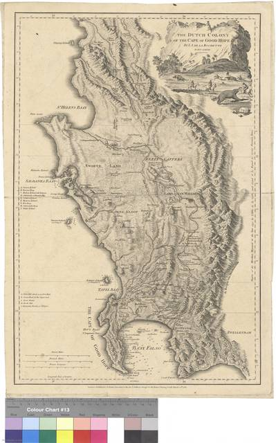 The Dutch Colony of the Cape of Good Hope : By L.S. de la Rochette MDCCLXXXII ; Engraved by W. Faden [Mapa]