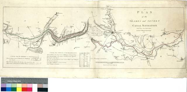 A Plan of the Thames and Severn Canal Navigation [Mapa]